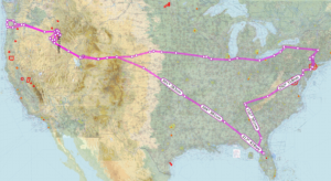 The Entire Summer Trip Route